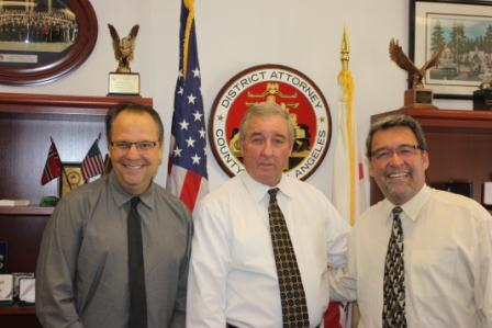 LCCN Reporter Randy Economy, District Attorney Steve Cooley and Publisher Brian Hews during exclusive interview about the arrest of Assessor John Noguez, his career and hopes for the future.